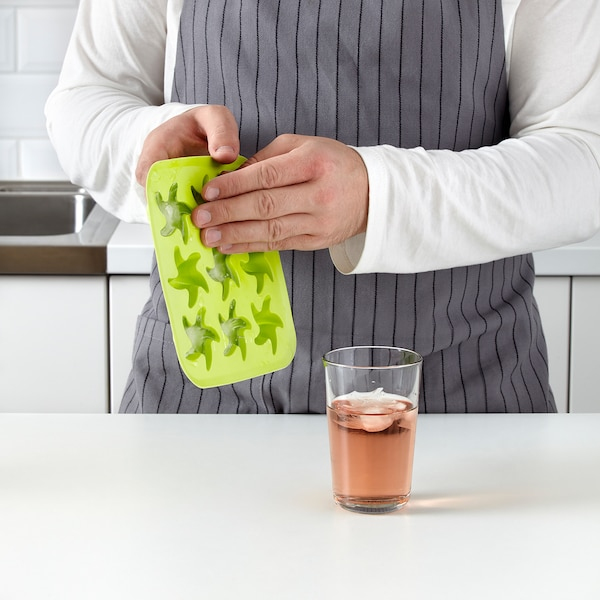 PLASTIS Bac à glaçons, vert/rose/turquoise