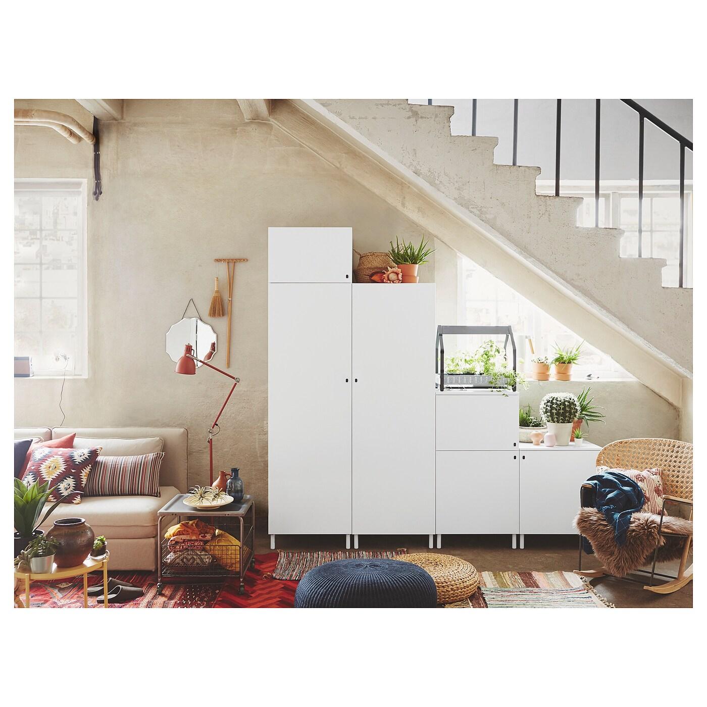 Platsa Armoire Penderie Blanc Fonnes Blanc 240x57x231 Cm Ikea