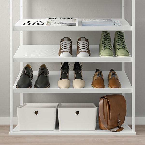 Platsa Rangement Ouvert Pour Chaussures Blanc Ikea