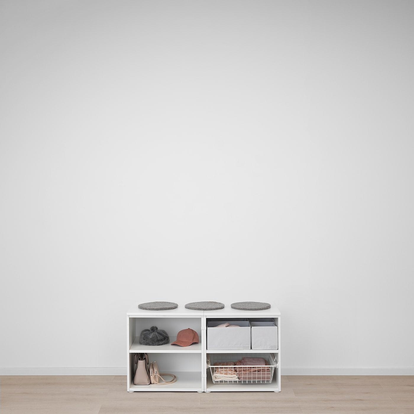 Faire Un Banc Avec Meuble Ikea platsa banc avec rangement - blanc, sannidal blanc 120x57x63 cm