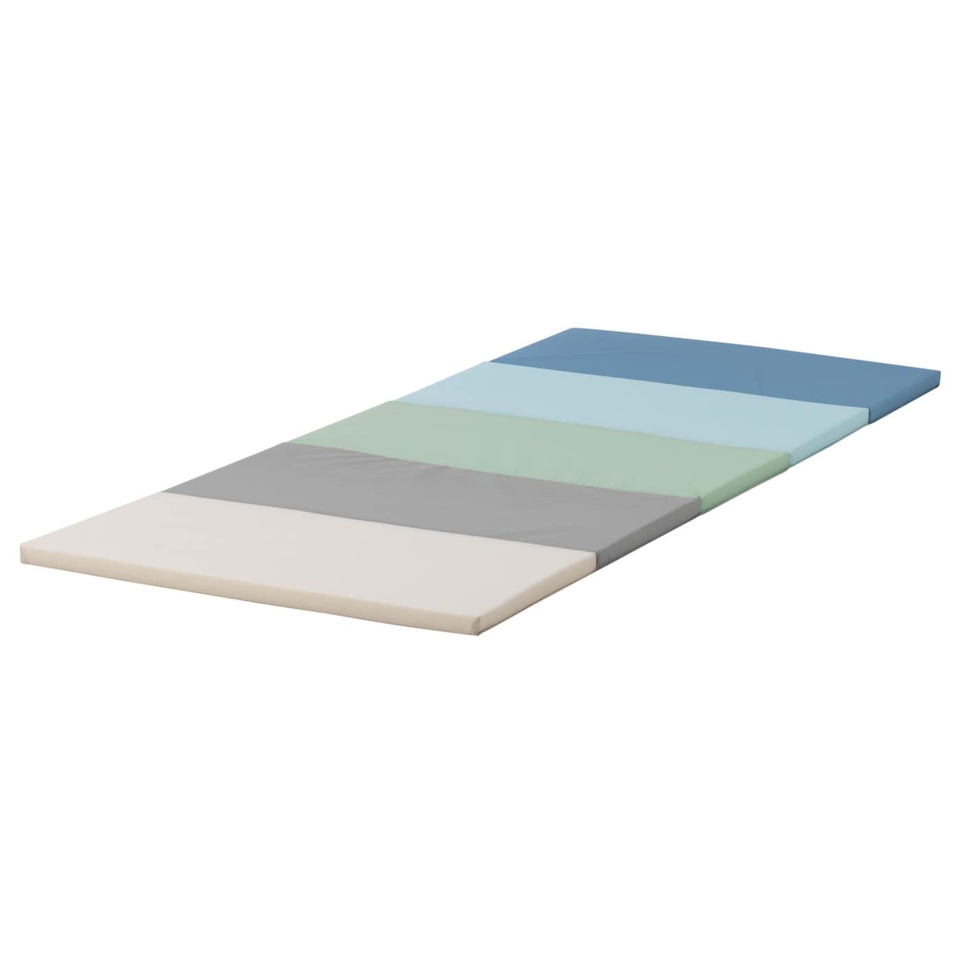 PLUFSIG Tapis de gymnastique pliant - bleu 8x8 cm