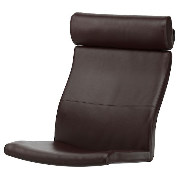 POÄNG Coussin fauteuil, Glose brun foncé