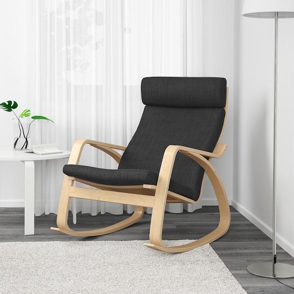 POÄNG Fauteuil à bascule, plaqué bouleau, Hillared anthracite - IKEA