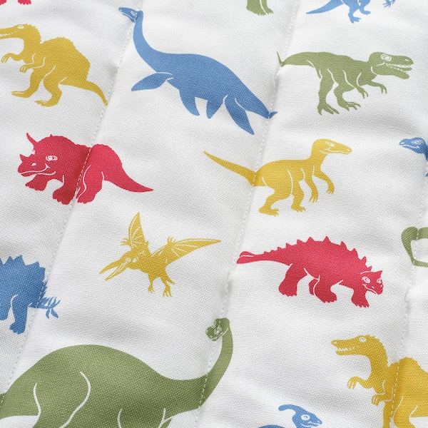 POÄNG Fauteuil enfant, plaqué bouleau/Medskog motif dinosaure