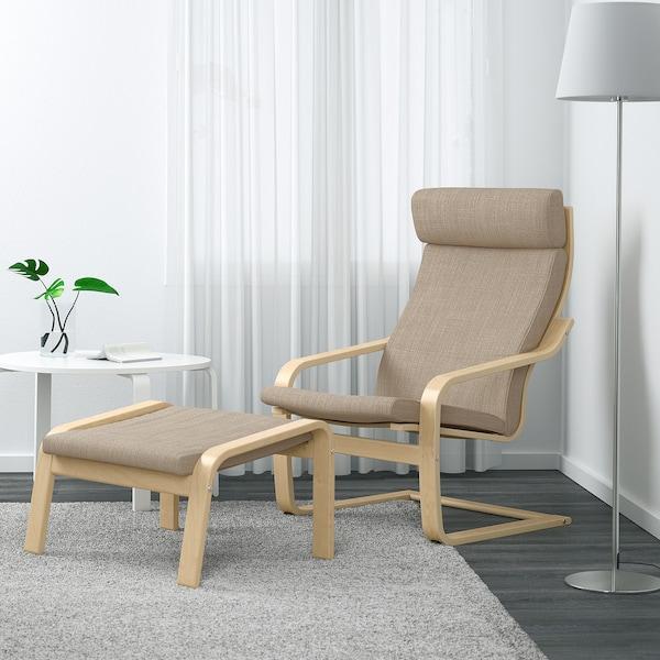 POÄNG Fauteuil, plaqué bouleau/Hillared beige