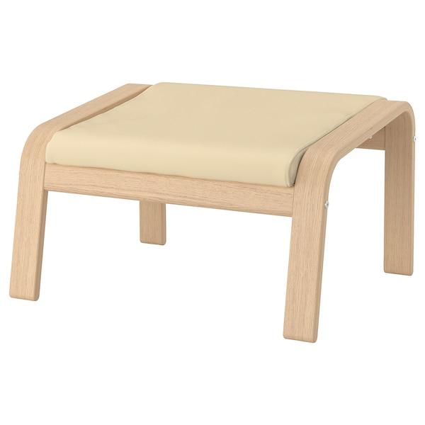Poang Repose Pieds Plaque Chene Blanc Hi Glose Coquille D Oeuf Ikea