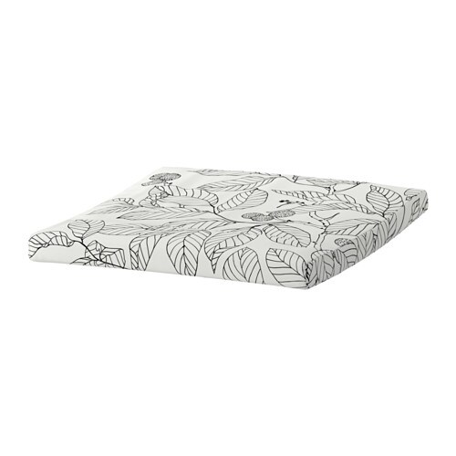 po ng coussin repose pieds vislanda noir blanc ikea. Black Bedroom Furniture Sets. Home Design Ideas