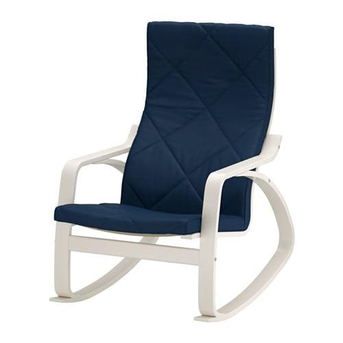 Po Ng Fauteuil Bascule Edum Bleu Fonc Ikea
