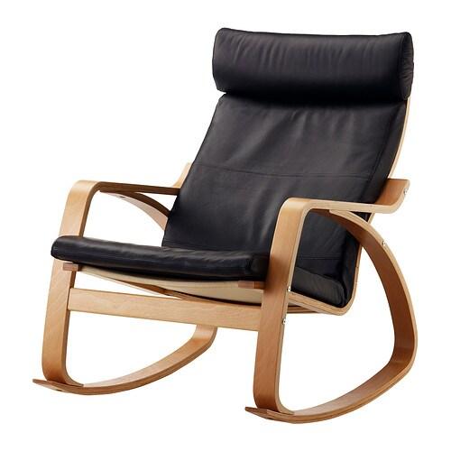 Po ng fauteuil bascule smidig noir ikea - Fauteuil cuir noir ikea ...