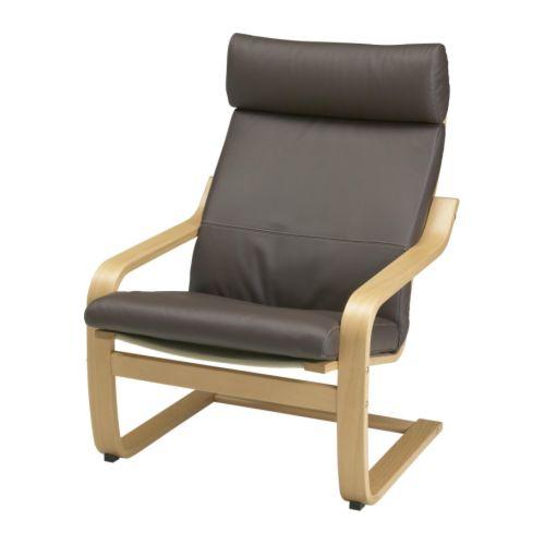 Po ng fauteuil glose brun fonc ikea - Housse poang ikea ...
