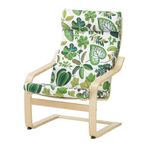 Po ng fauteuil simmarp vert ikea for Housse fauteuil poang
