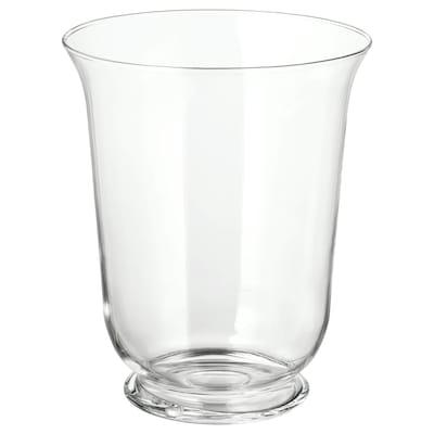 POMP vase/lanterne verre transparent 28 cm 23 cm