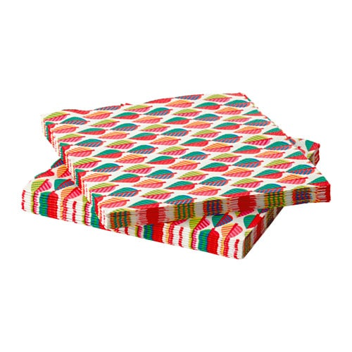 poppig serviettes en papier ikea. Black Bedroom Furniture Sets. Home Design Ideas
