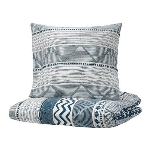 provinsros housse de couette et 2 taies 240x220 65x65 cm ikea. Black Bedroom Furniture Sets. Home Design Ideas