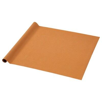 PURKEN Papier cadeau, orange/rayure, 3.0x0.7 m