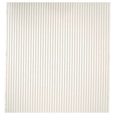 RADGRÄS Tissu au mètre, blanc/beige rayé, 150 cm