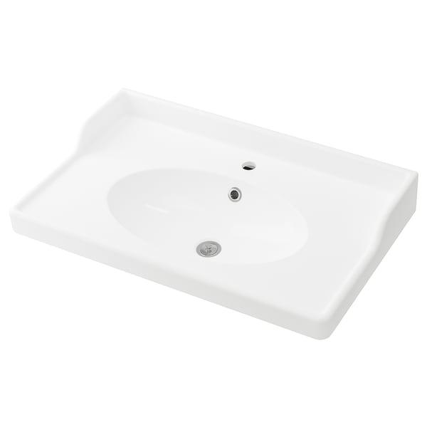 RÄTTVIKEN Vasque, blanc, 82x49x6 cm