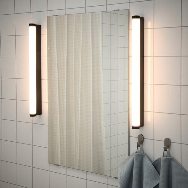RAKSTA Applique LED/miroir, noir, 60 cm