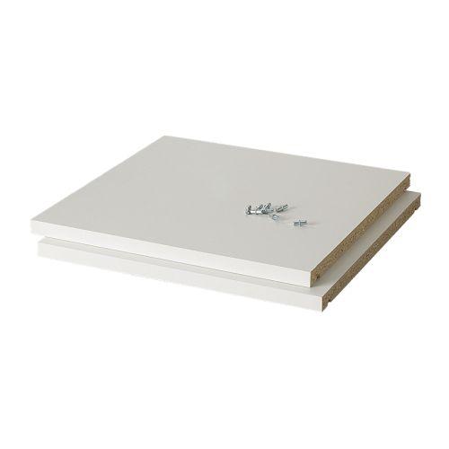 Tablette Salle De Bain Plastique : IKEA White Melamine Shelving