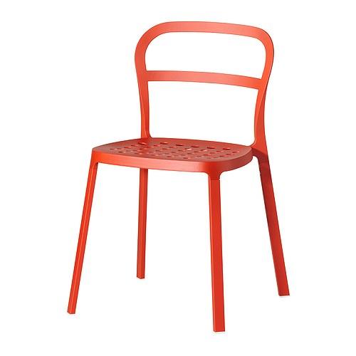 Reidar chaise int rieur ext rieur ikea for Table exterieur orange
