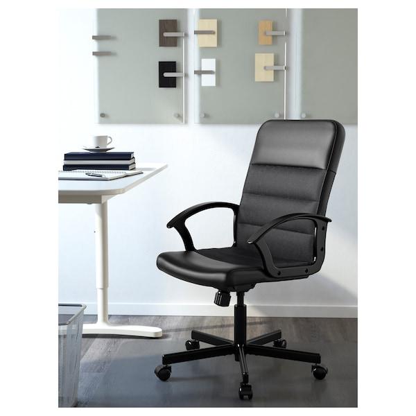 RENBERGET Chaise pivotante, Bomstad noir