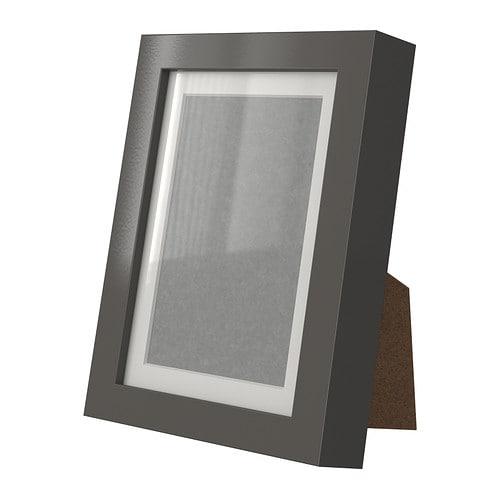 ribba cadre brillant gris ikea. Black Bedroom Furniture Sets. Home Design Ideas