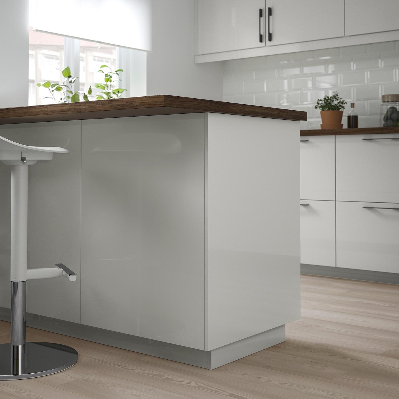 Epaisseur Caisson Cuisine Ikea ringhult panneau latéral de finition - brillant gris clair 62x220 cm