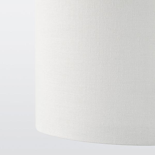 RINGSTA / SKAFTET Lampadaire, blanc/nickelé