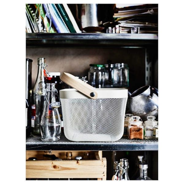 RISATORP Panier, blanc, 25x26x18 cm