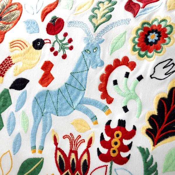 RÖDARV Coussin, multicolore, 40x65 cm