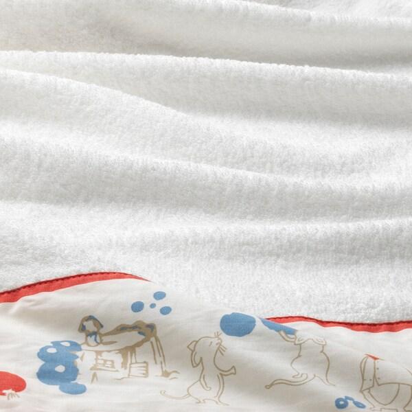 RÖDHAKE cape de bain bébé motif lapins/myrtilles 125 cm 60 cm