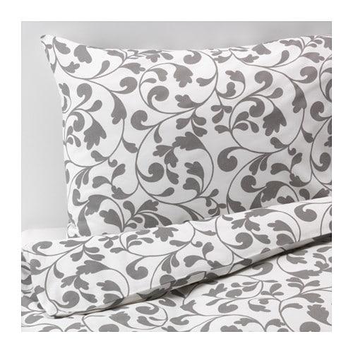rostvin housse de couette et taie 150x200 65x65 cm ikea. Black Bedroom Furniture Sets. Home Design Ideas