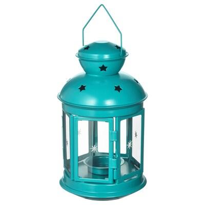 ROTERA lanterne intérieur/extérieur turquoise 21 cm