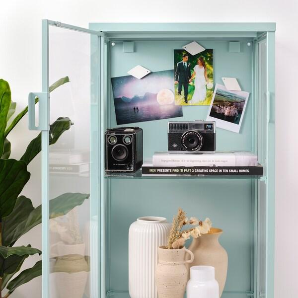 RUDSTA Vitrine, turquoise clair, 42x37x155 cm