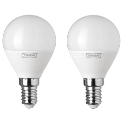 RYET ampoule à LED E14 400 lumen globe opalin 400 lm 2 pièces