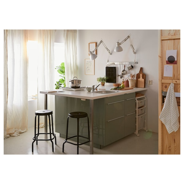 SÄLJAN Plan de travail, blanc/stratifié, 186x3.8 cm