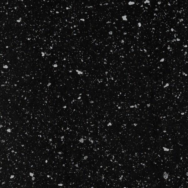 SÄLJAN plan de travail noir motif minéral/stratifié 186 cm 63.5 cm 3.8 cm