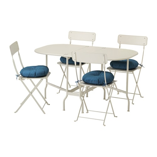 Saltholmen table 4 chaises pliantes ext rieur for Mobilier exterieur ikea