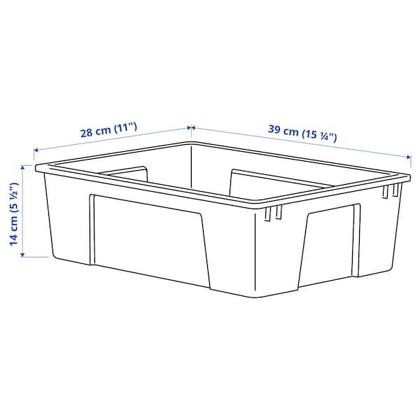 SAMLA Boîte, transparent, 39x28x14 cm/11 l