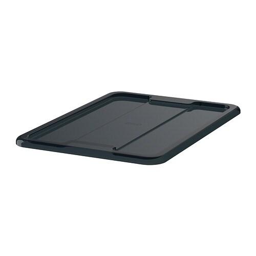 Samla Couvercle Pour Bo Te 11 22 L Noir Ikea