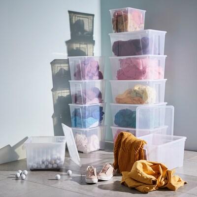 Samla Kit 4p Boites Rangement Couvercles Ikea