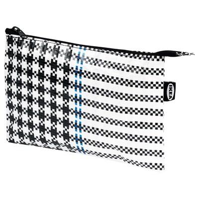 SAMMANKOPPLA Étui, noir/blanc, 16x24 cm