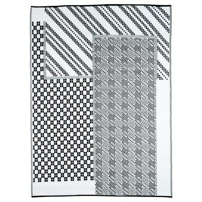 SAMMANKOPPLA Tapis tissé à plat, noir/blanc, 180x240 cm