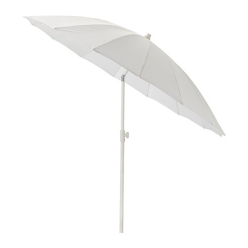 sams parasol inclinable blanc ikea. Black Bedroom Furniture Sets. Home Design Ideas