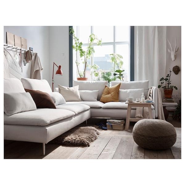 Sandared Pouf Beige Ikea
