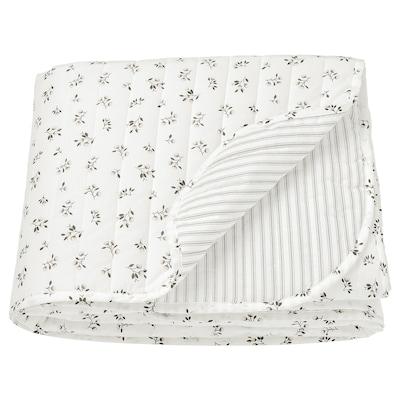 SANDLUPIN Couvre-lit, blanc/gris, 160x250 cm