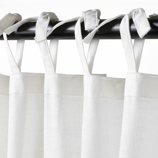 SÅNGLÄRKA Rideaux+embrasses, 2 pcs, papillon/blanc bleu, 120x300 cm