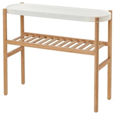 SATSUMAS Piédestal, bambou/blanc, 70 cm
