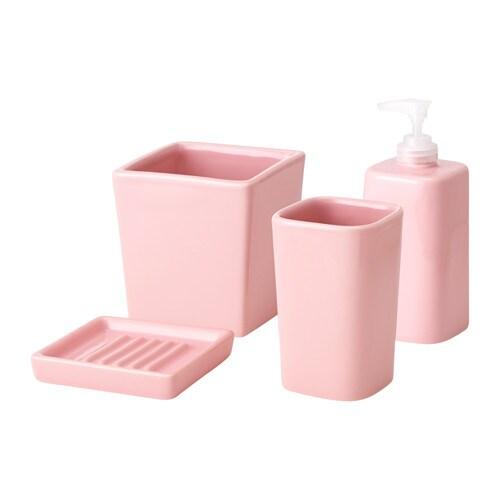 Sege accessoires bain 4 pi ces ikea - Accessoires salle de bain rose ...