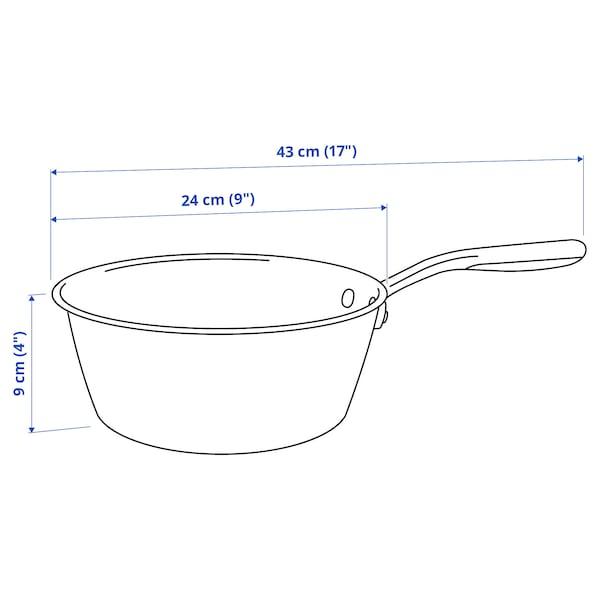 SENSUELL Sauteuse, acier inoxydable/gris, 3 l